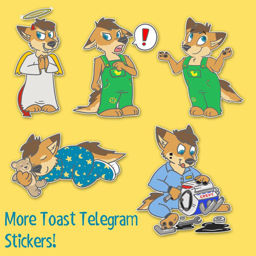 More Toast Telegram stickers!