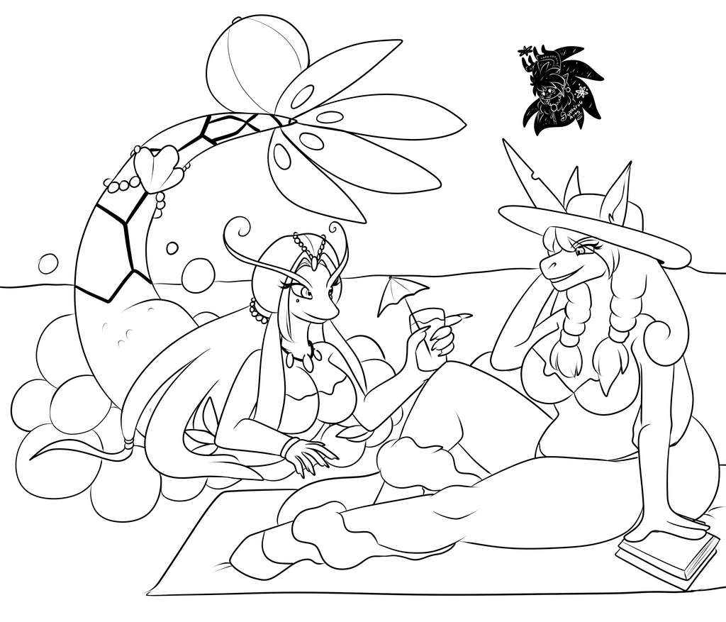 Summer relaxation +Commission WIP+