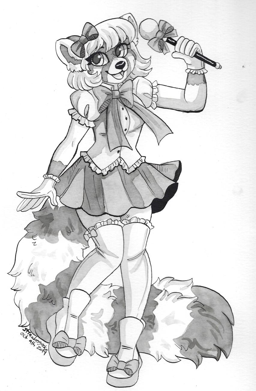 Inktober Day 9: Magical Girl