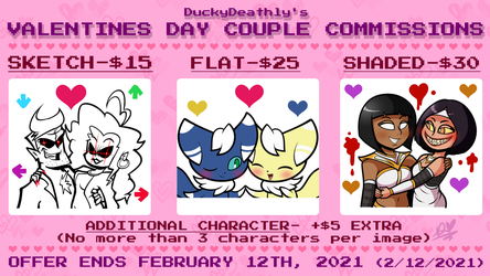 Valentine's Day Couple Commissions (closed)