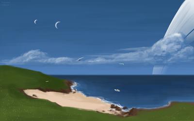 30D Scenery: Ringed ocean