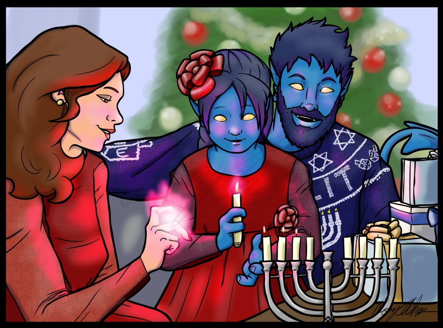 Happy Hanukkah from the Wagners