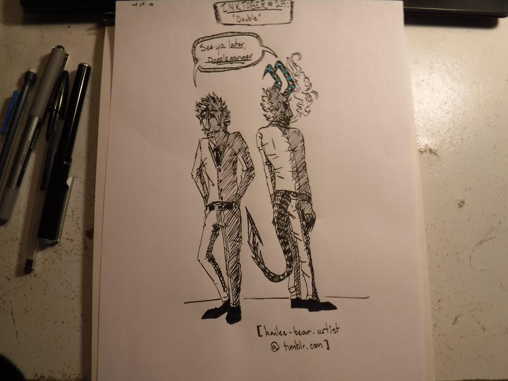 """INKTOBER #29 : """" DOUBLE """""""