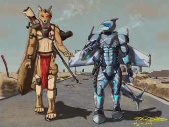 Walking Together (In the future wastelands)