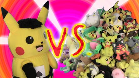 Mascot Pikachu Fursuiting: Ace Spade vs. 130+ Pokemon Plushies