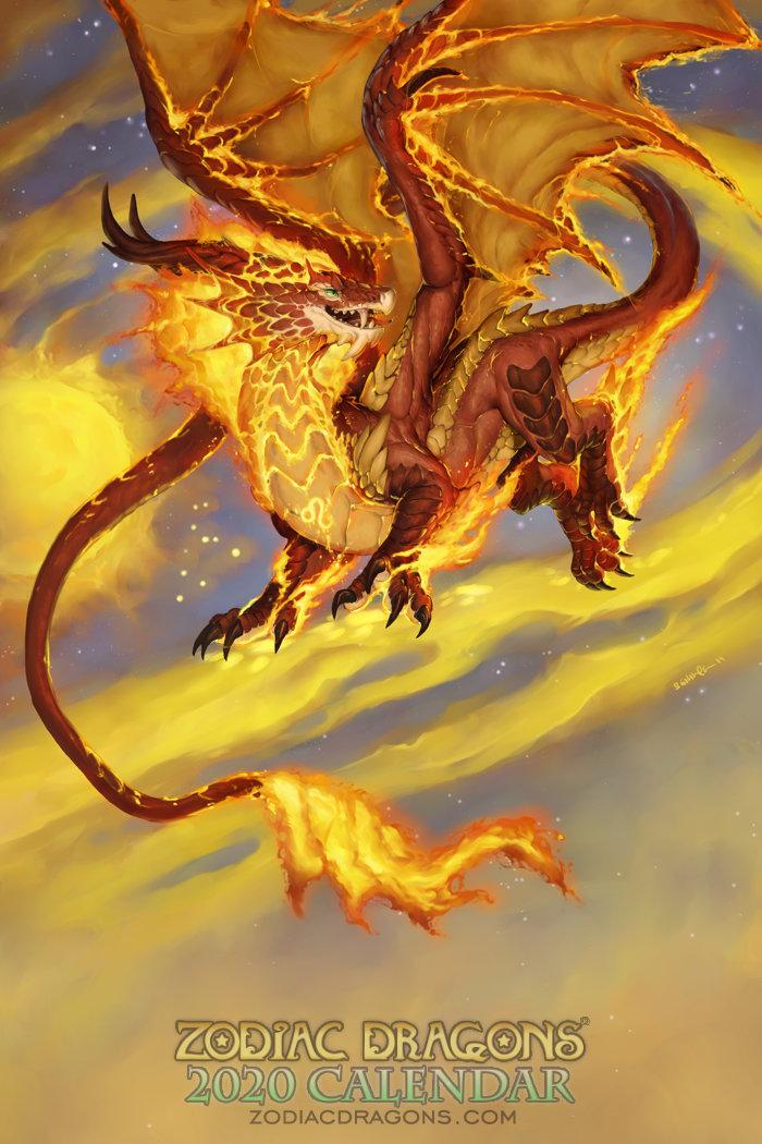 2020 Zodiac Dragons Calendar Leo