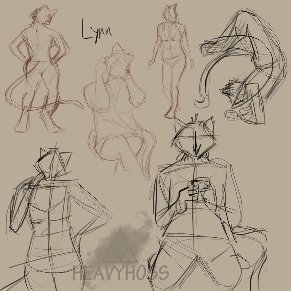 Lynn: Gestural Sketch Page