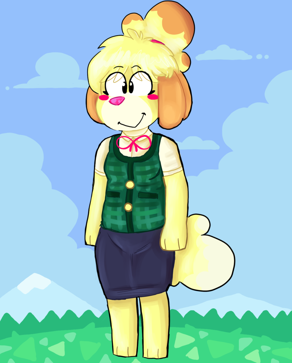 Most recent image: Isabelle - Animal Crossing Fanart