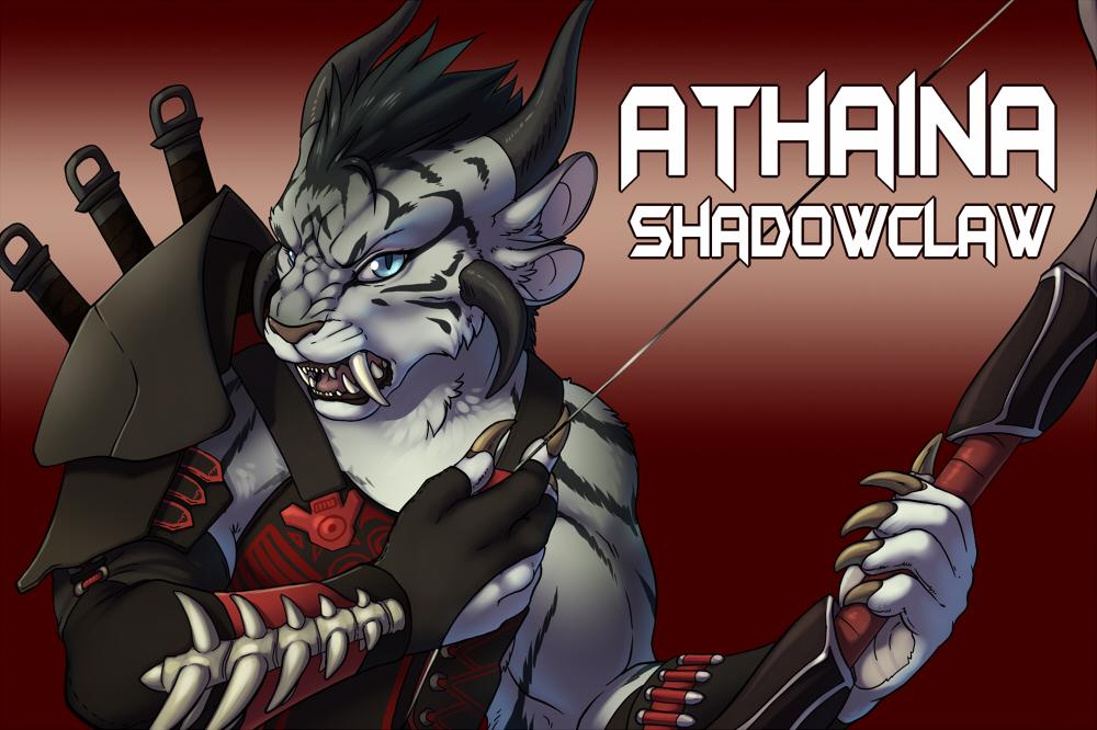 Commission: Athaina Shadowclaw Badge