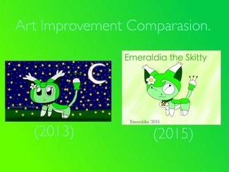 Art Improvement Comparasion: Emeraldia the Skitty