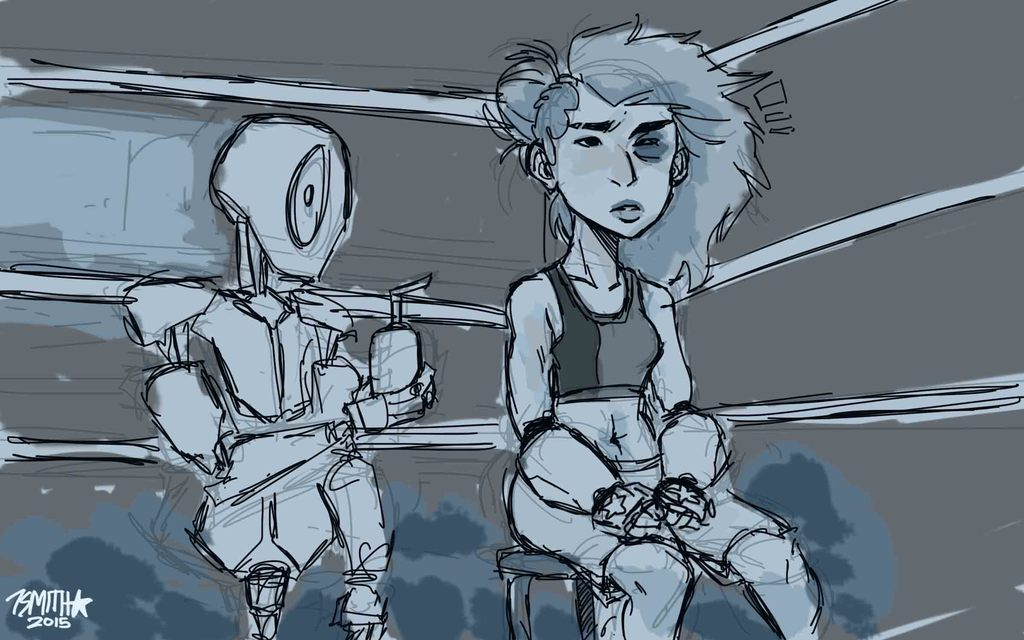 Most recent image: Emma in the ring (WIP)