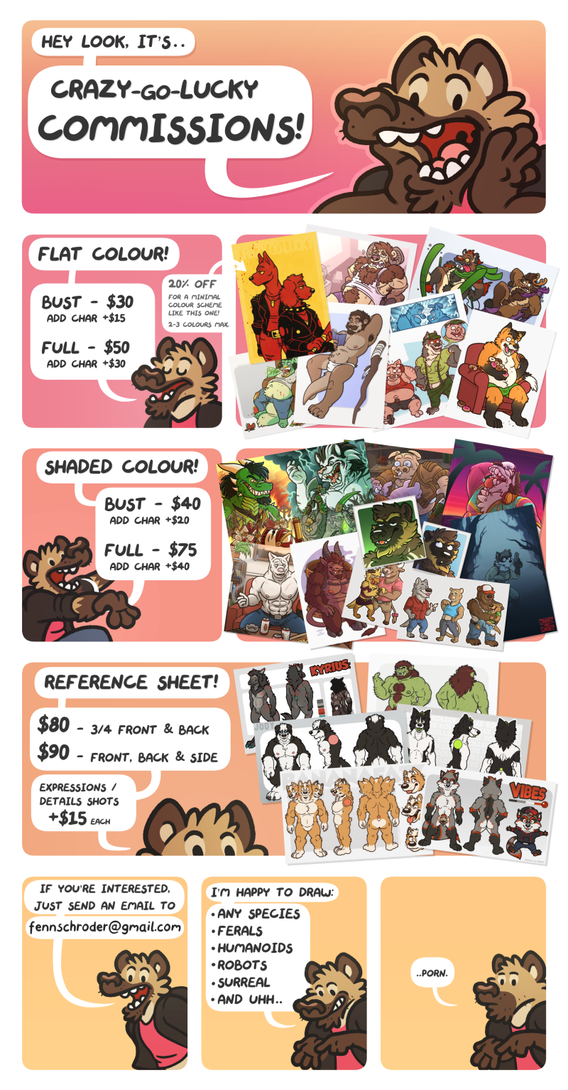 Crazy-Go-Lucky: Commission Prices 2017