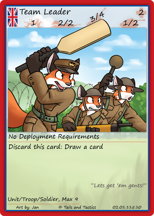 Series 2: British Team Leader - Tails and Tactics Trading Card Game