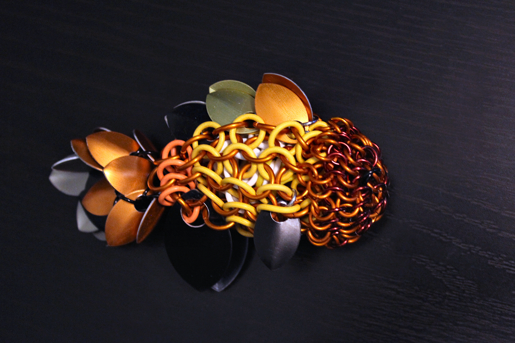 Chainmaille Oranda Goldfish