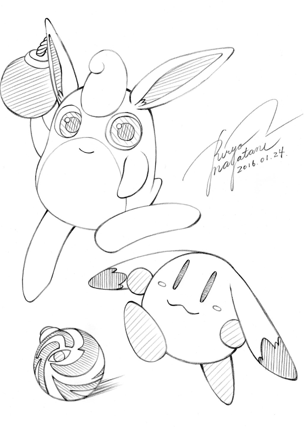 [Study] Wigglytuff and Pommy