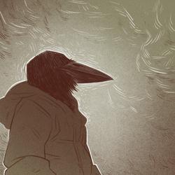 More bird guy sketch (Defans Amis)