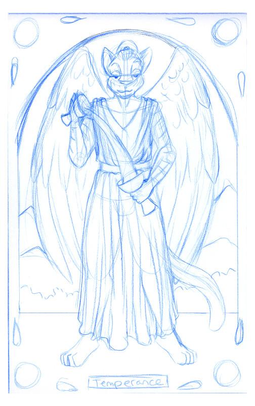 Tarot Card: Temperance for Leinir