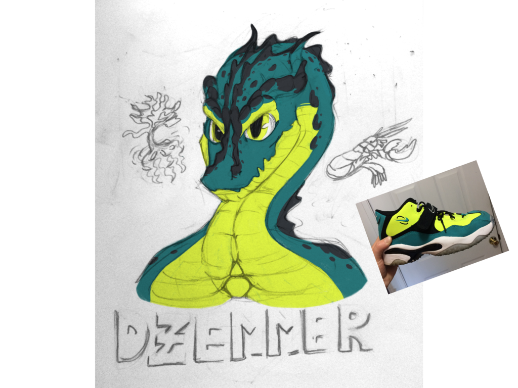 Most recent image: Djemmer character badge - color theory