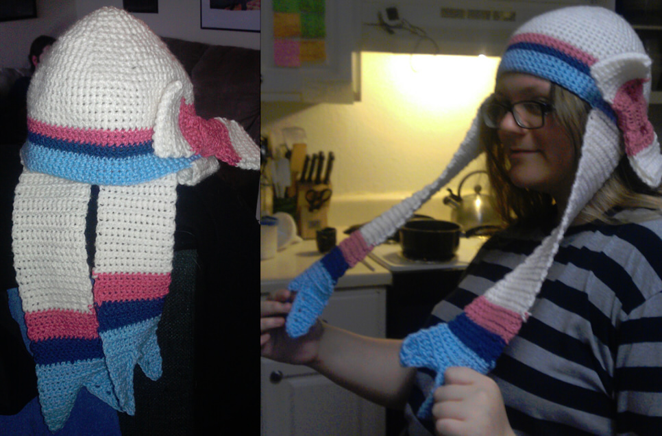 Sylveon Hat Crochet Weasyl