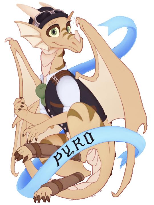 Pyro con badge