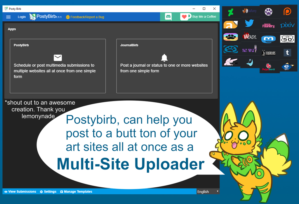 Featured image: Postybirb Multi Uploader