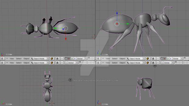 Ant 3D Model Blender
