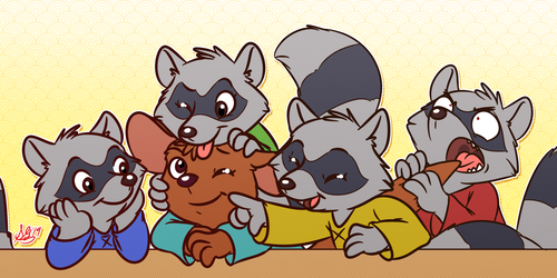 Roo and the coon bros.