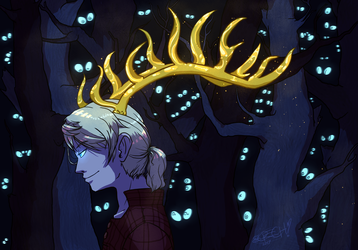 golden antlers