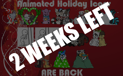 2 WEEKS LEFT TO GET CHRISTMAS / HOLIDAY ICONS