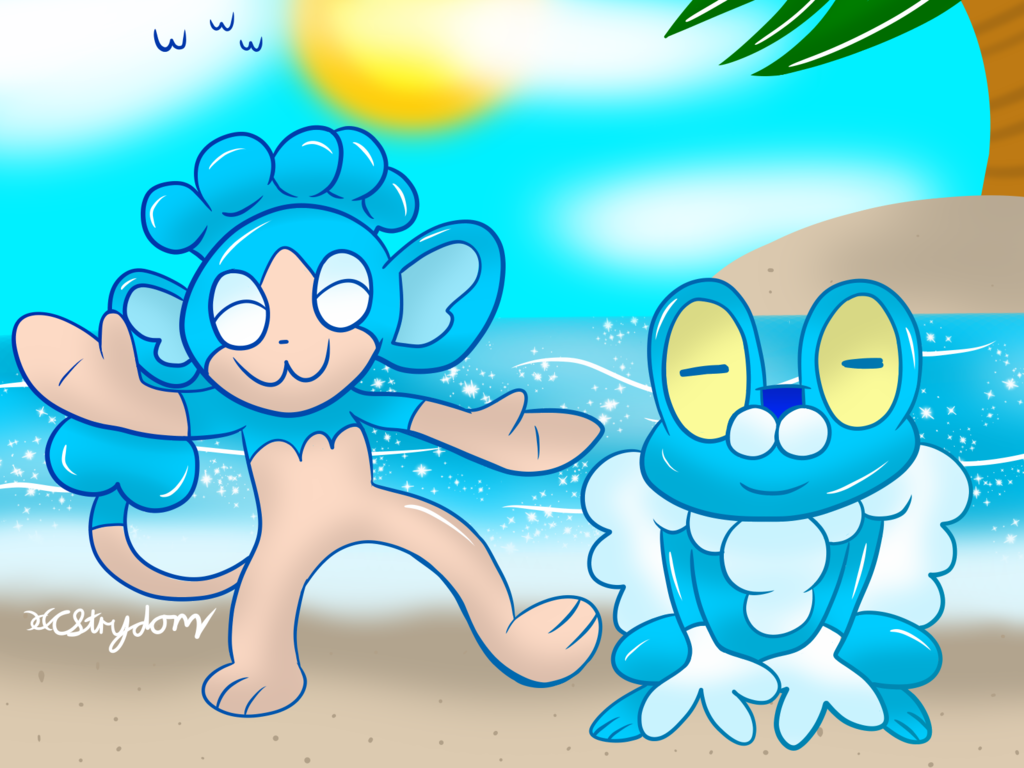 Panpour And Froakie!