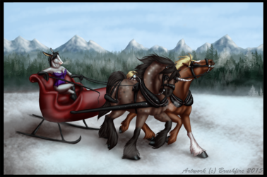 Dashing Through the Snow Finished YCH
