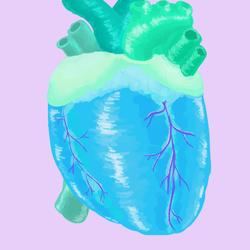 Blue green heart