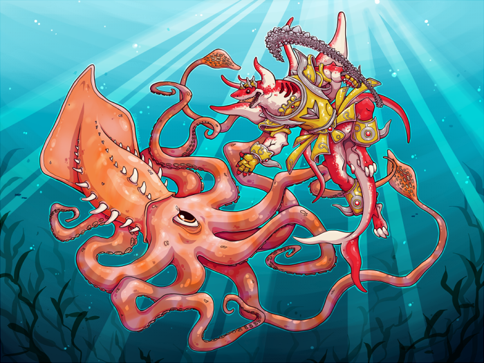 Most recent image: Abyssmegalo vs Kraken