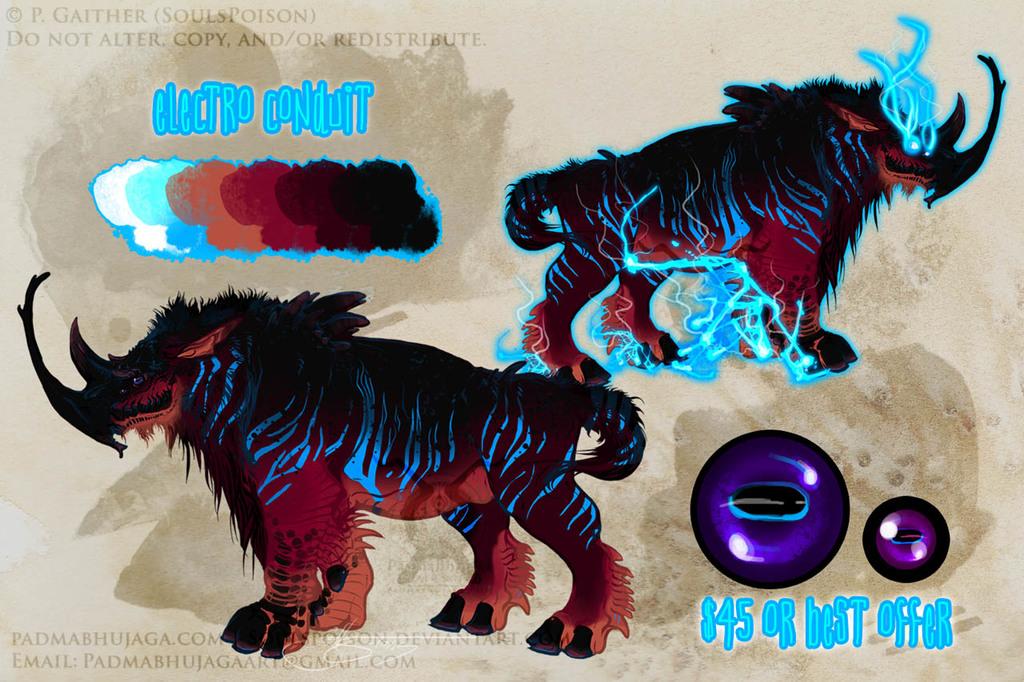 Electro Conduit Monster Adoptable - SOLD