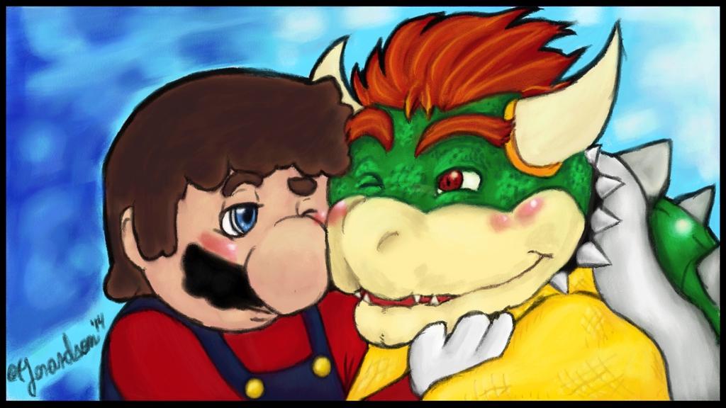 Fanart - Mario x Bowser