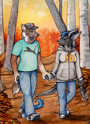 Fall time walk