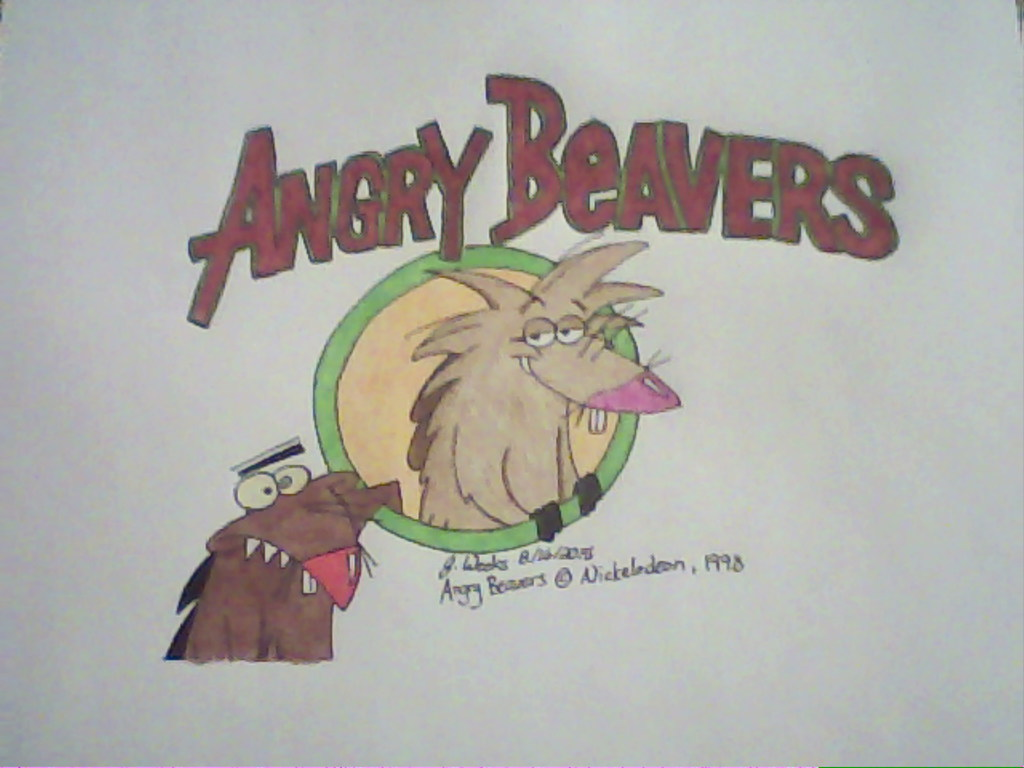 Angry Beavers- A Drawing from the '90s