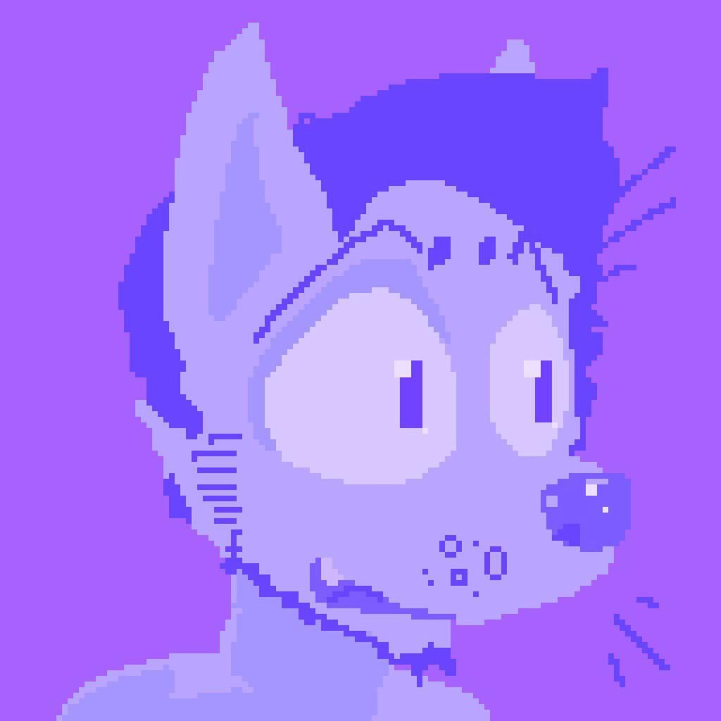 Pixel Art : Purple Rando