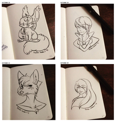 (Inktober 2015) 22nd to 25th