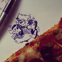 Pizza Misses n Kisses by Ator
