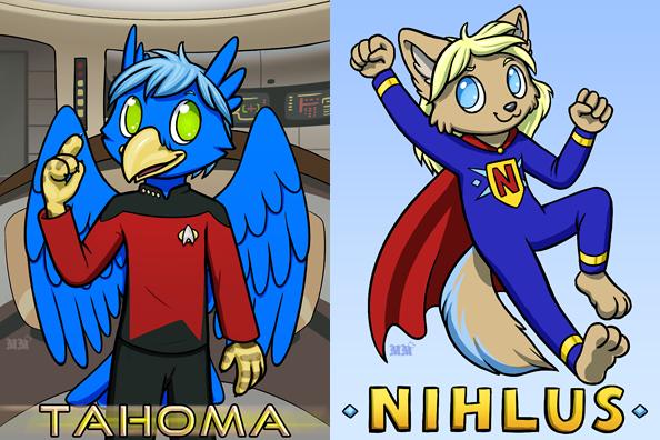 Tahoma and Nihlus Ridicudorable Badges