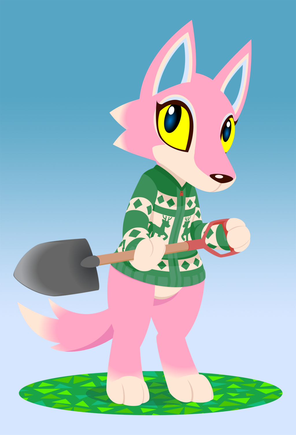 Most recent image: Freya with Shovel