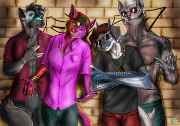Commission - Furry rapper group