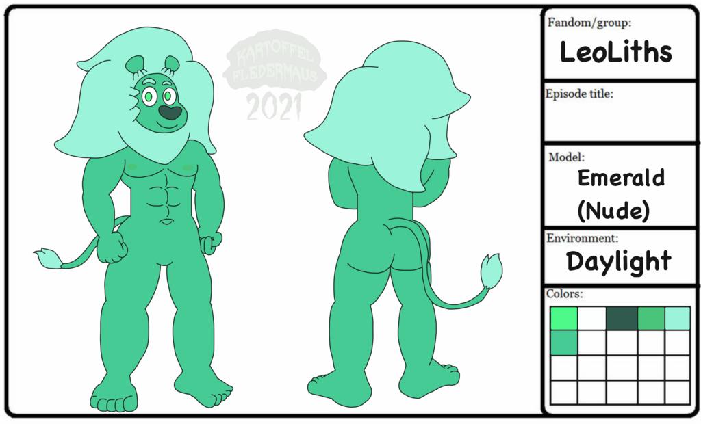 Emerald Model Sheet (Nude)