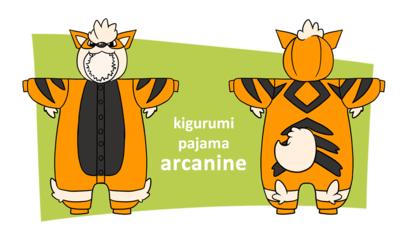 Kigurumi Pajama Design Arcanine