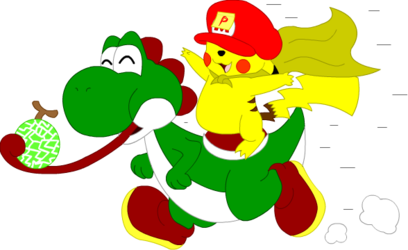 Yoshi and Pikachu Antics