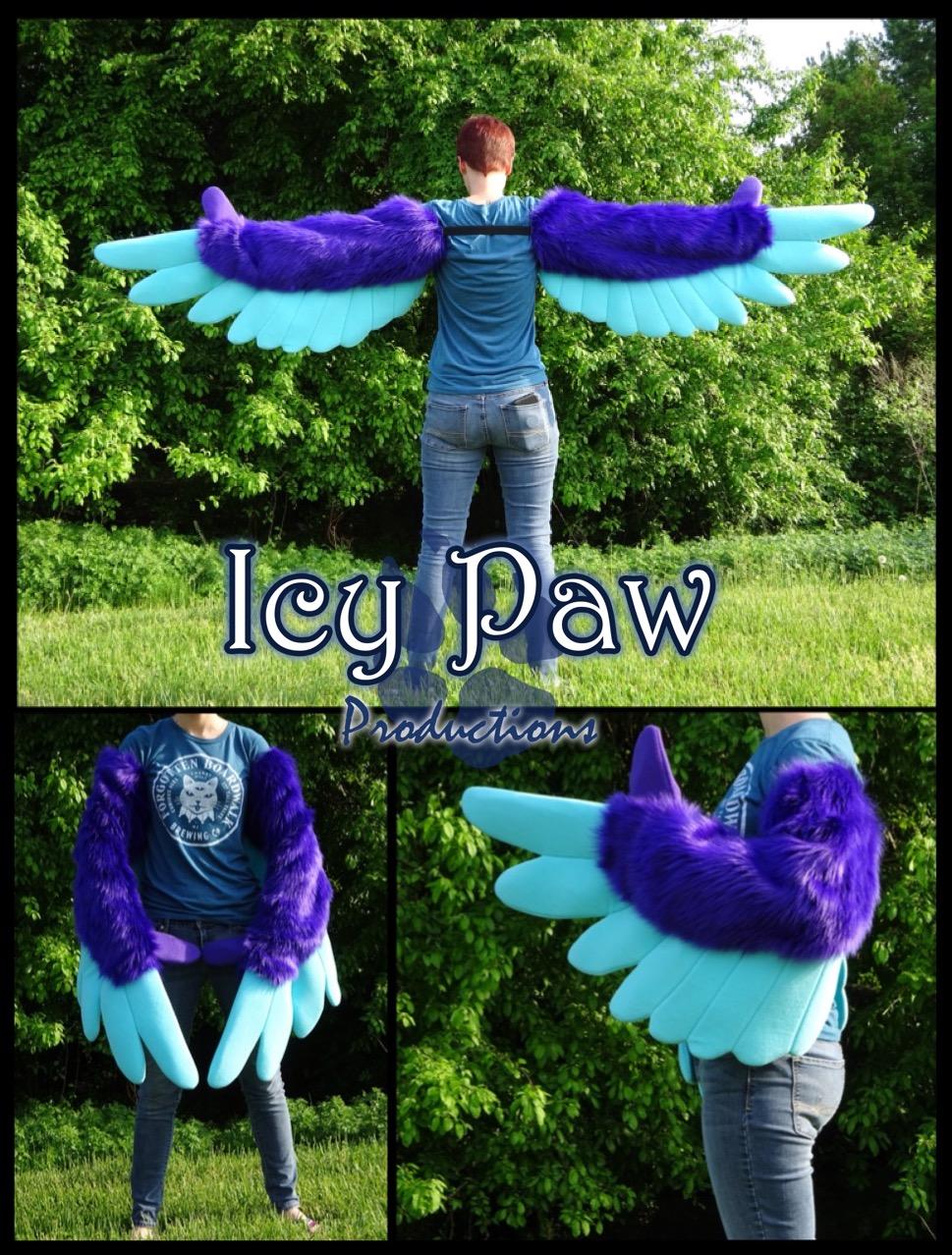 Purple/blue arm wings