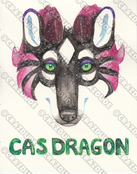Cas Dragon - Galaxy Face Painting