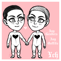 Humanoid Mini Couple Pagedoll Ych [OPEN]