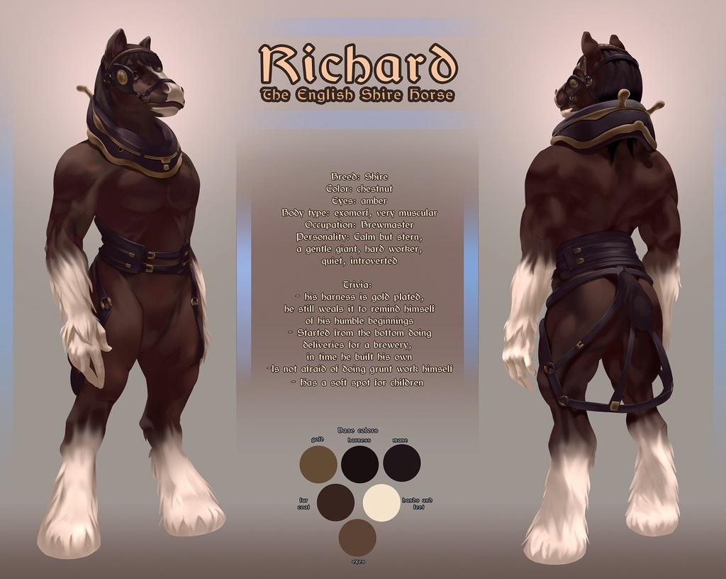 Richard the Shire Horse Ref Sheet [C]